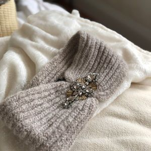 Knit jeweled headband